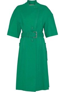 Marni Woman Button-detailed Cutout Cotton Trench Coat Jade