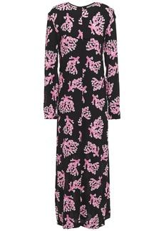 Marni Woman Button-embellished Printed Crepe Maxi Dress Black