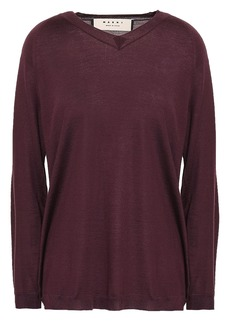 Marni Woman Cashmere Sweater Burgundy