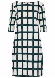 Marni Woman Checked Cotton Mini Dress Ivory