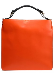 Marni Woman Coated Leather Tote Orange