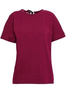 Marni Woman Cotton-jersey T-shirt Plum