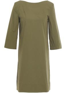 Marni Woman Cotton-poplin Mini Dress Leaf Green