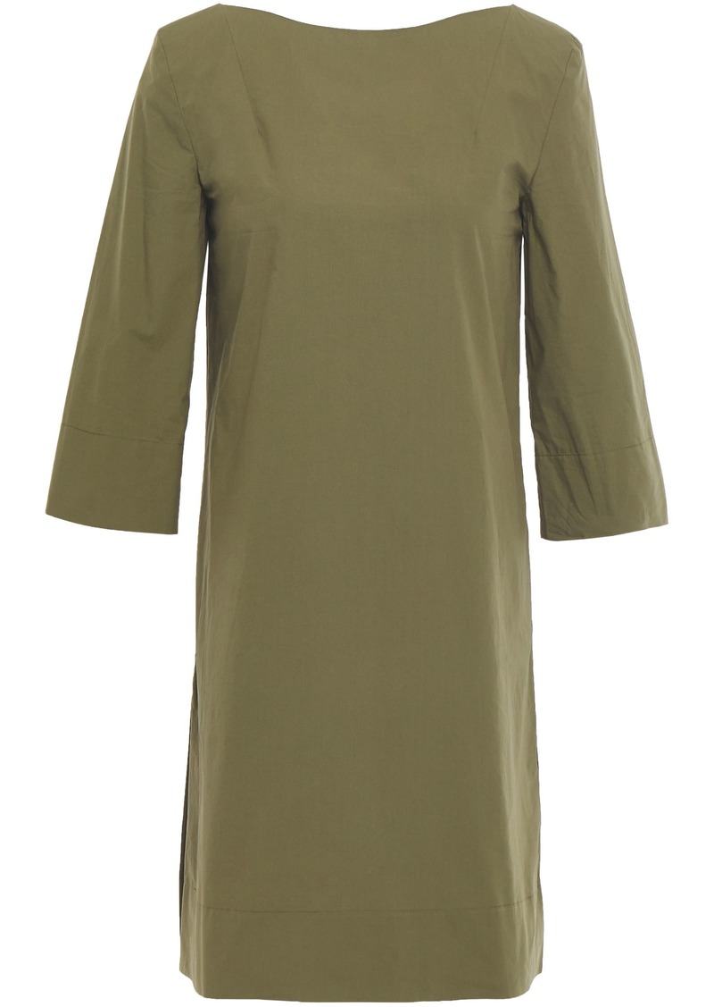 Marni Woman Cotton-poplin Mini Dress Leaf Green