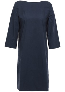Marni Woman Cotton-poplin Mini Dress Storm Blue