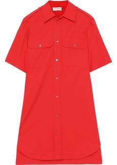 Marni Woman Cotton-poplin Mini Shirt Dress Tomato Red