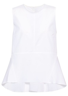 Marni Woman Cotton-poplin Peplum Top White