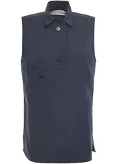 Marni Woman Cotton-poplin Shirt Midnight Blue