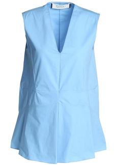 Marni Woman Cotton-poplin Top Light Blue