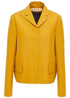 Marni Woman Cotton-twill Jacket Mustard