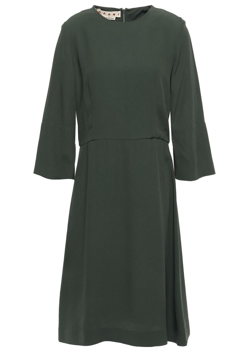 Marni Woman Crepe Dress Army Green