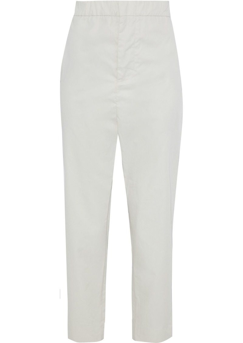 Marni Woman Cotton-gabardine Tapered Pants Ivory