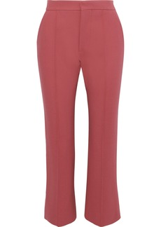 Marni Woman Cropped Crepe Bootcut Pants Antique Rose