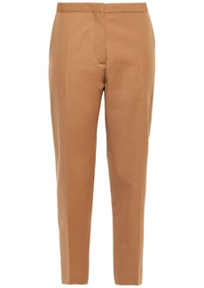 Marni Woman Cropped Wool-twill Tapered Pants Sand