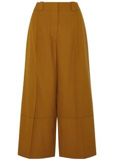 Marni Woman Cropped Wool Wide-leg Pants Camel