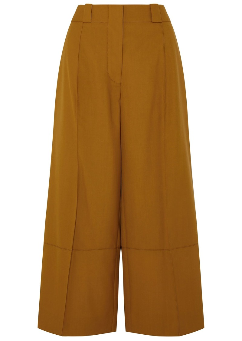 Marni Woman Cropped Wool Wide-leg Pants Camel