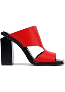 Marni Woman Cutout Leather Sandals Red