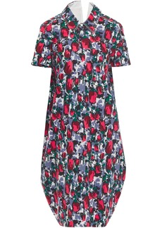 Marni Woman Cutout Printed Cotton-poplin Shirt Dress Multicolor