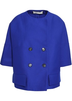 Marni Woman Double-breasted Cotton Jacket Royal Blue