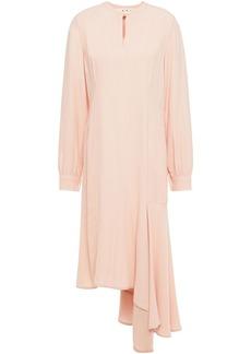 Marni Woman Asymmetric Tie-neck Draped Crepe Dress Blush