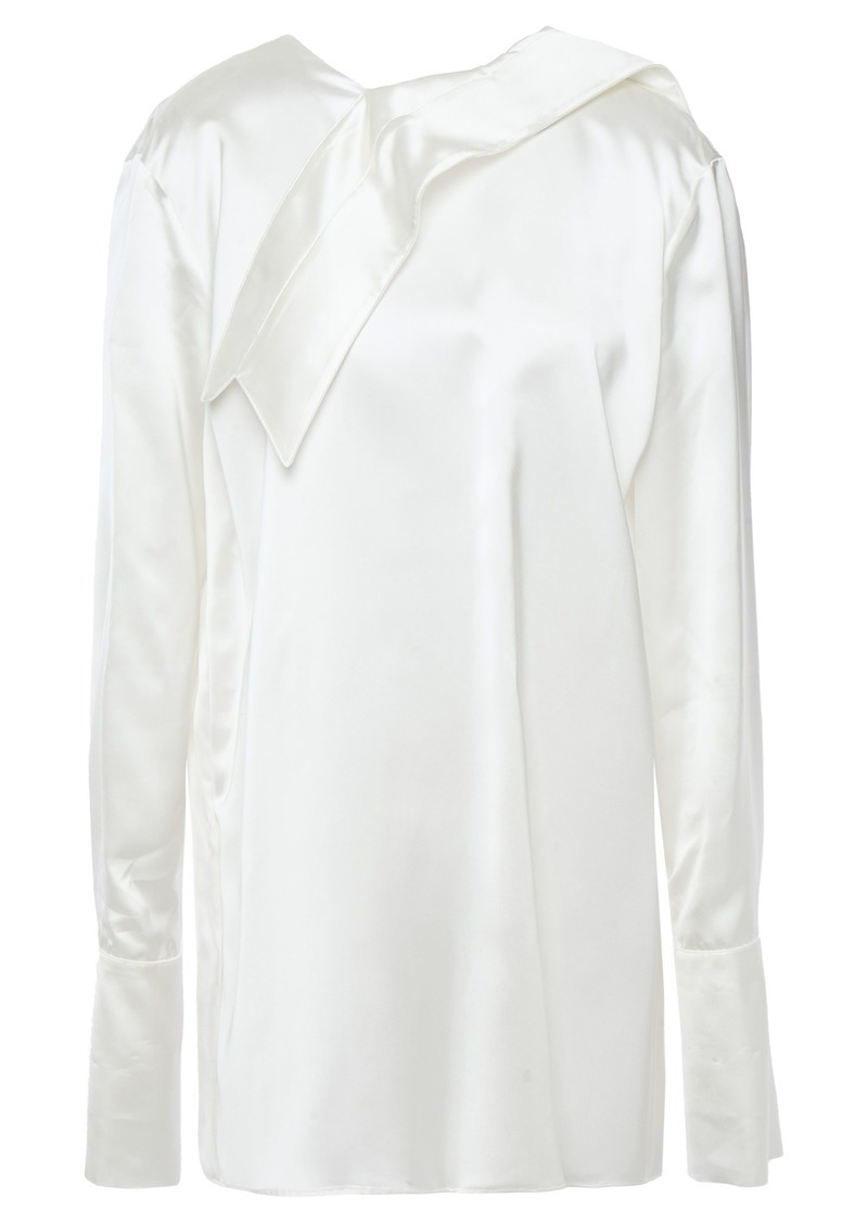 Marni Woman Draped Satin-twill Top White