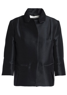 Marni Woman Duchesse-satin Jacket Black