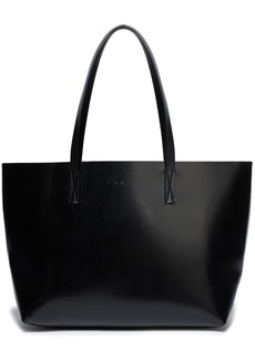 Marni Woman Faux Leather Tote Black