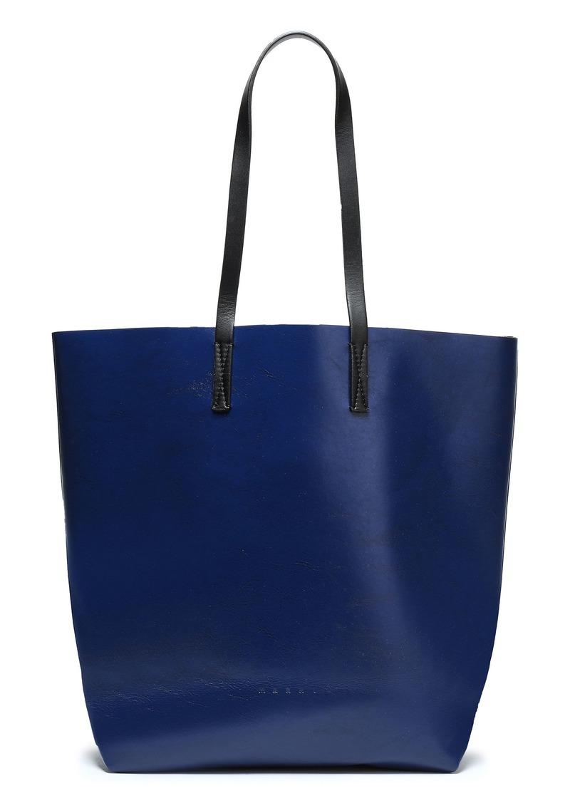 Marni Woman Faux Leather Tote Royal Blue