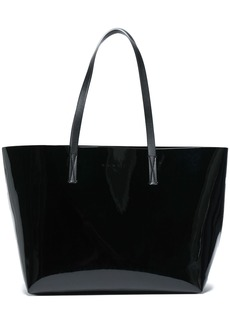 Marni Woman Faux Patent-leather Tote Black