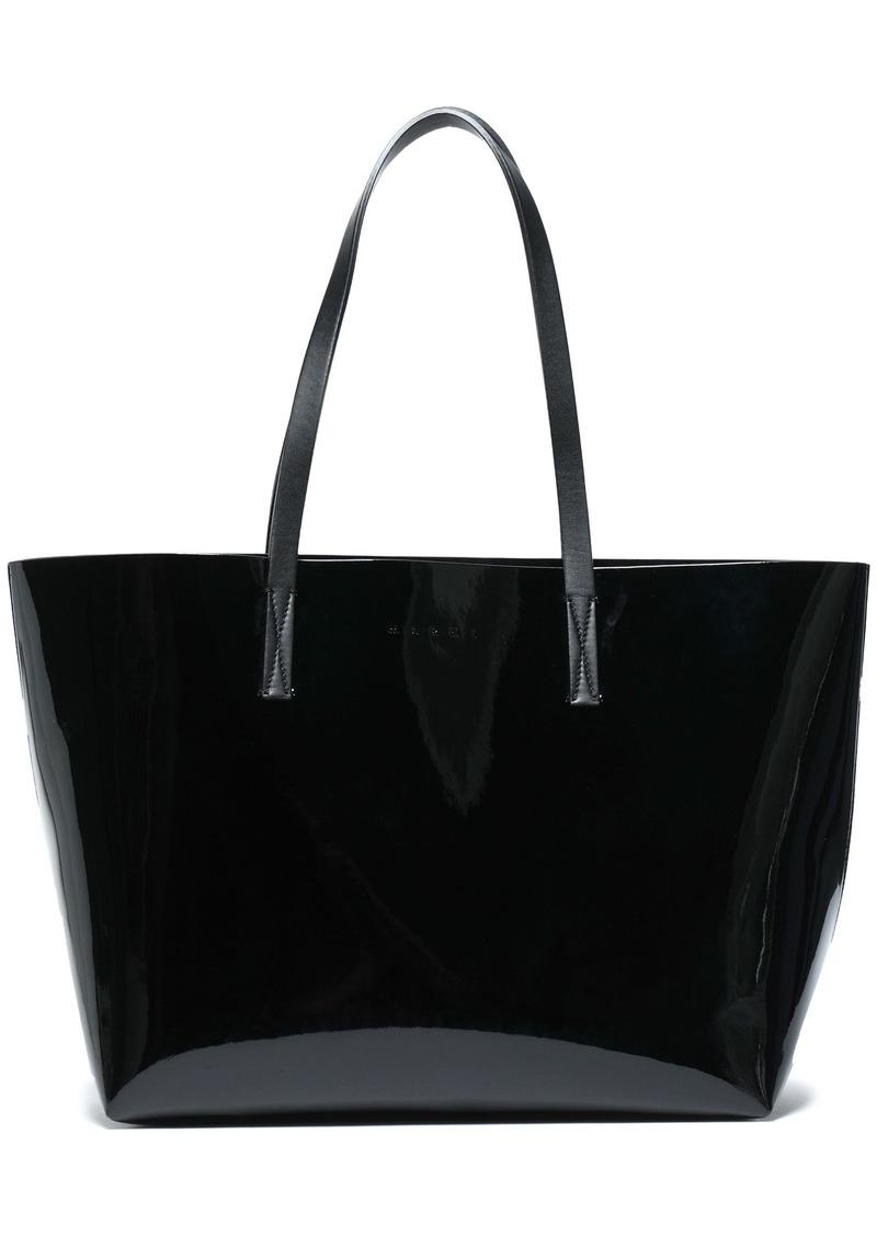 Marni Woman Faux Patent-leather Tote Black