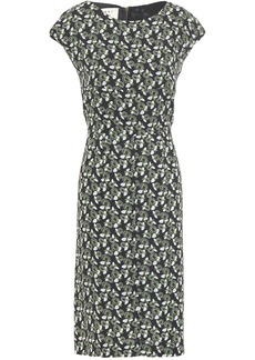 Marni Woman Floral-print Crepe Dress Black