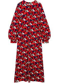 Marni Woman Floral-print Stretch-jersey Maxi Dress Red