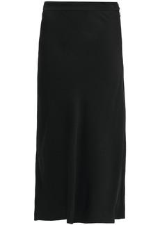 Marni Woman Fluted Crepe Midi Skirt Black