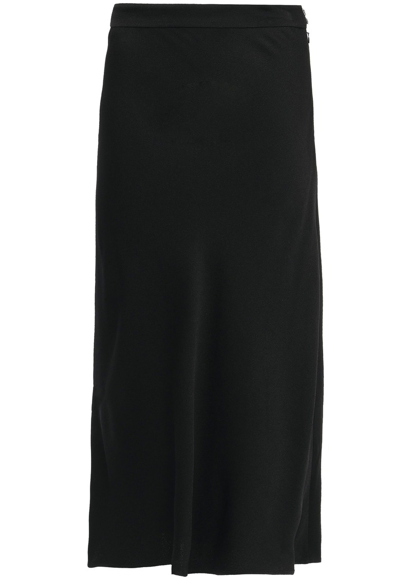 Marni Woman Fluted Crepe Midi Skirt Black