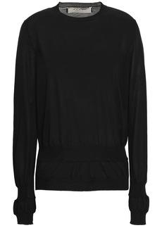 Marni Woman Gathered Cotton-blend Sweater Black