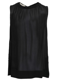 Marni Woman Gathered Georgette Top Black