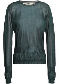 Marni Woman Silk Sweater Dark Green