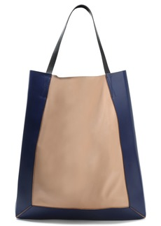 Marni Woman Glossed And Smooth-leather Tote Blush