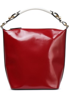 Marni Woman Glossed-leather Tote Claret