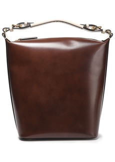 Marni Woman Glossed-leather Tote Chocolate