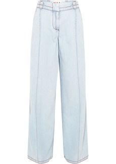 Marni Woman High-rise Wide-leg Jeans Light Denim