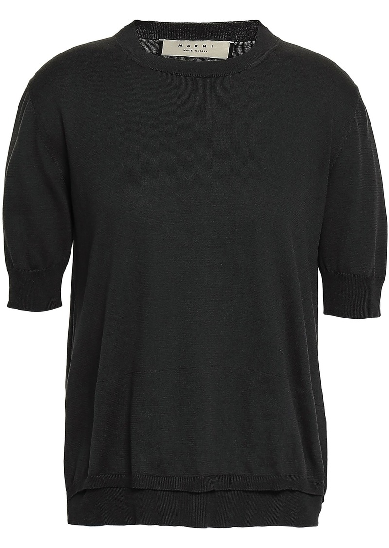 Marni Woman Cotton Top Anthracite