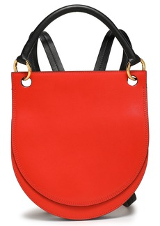 Marni Woman Two-tone Leather Backpack Tomato Red