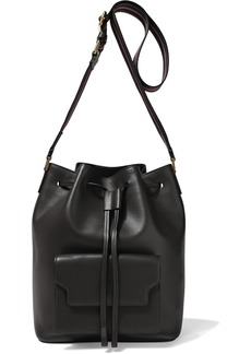 Marni Woman Leather Bucket Bag Dark Brown