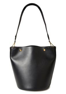 Marni Woman Leather Bucket Bag Black