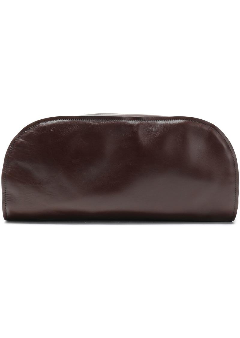 Marni Woman Leather Clutch Chocolate