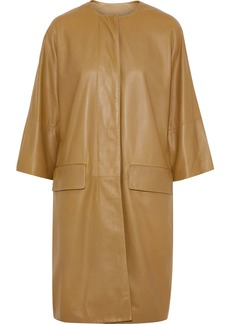 Marni Woman Leather Coat Sage Green