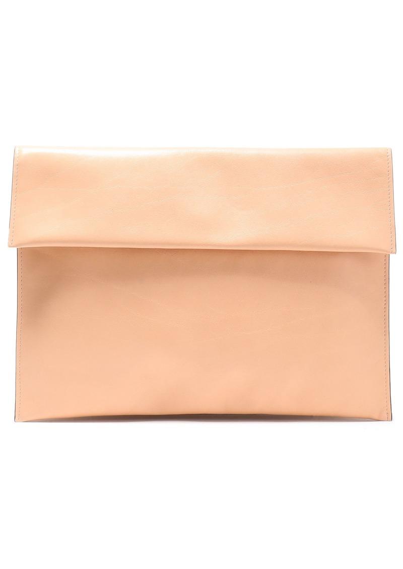 Marni Woman Leather Clutch Peach