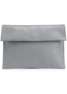 Marni Woman Leather Envelope Clutch Gray