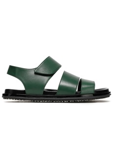 Marni Woman Leather Sandals Dark Green